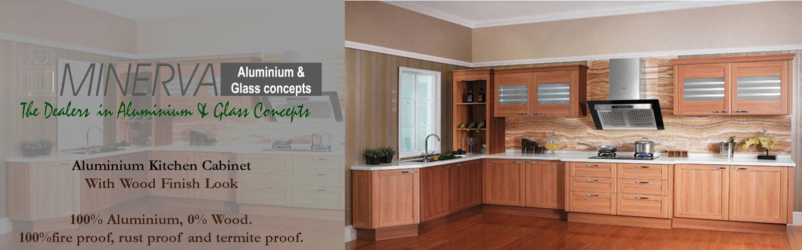 Aluminium Kitchen Cabinet Mfr Minerva Aluminium And Glass